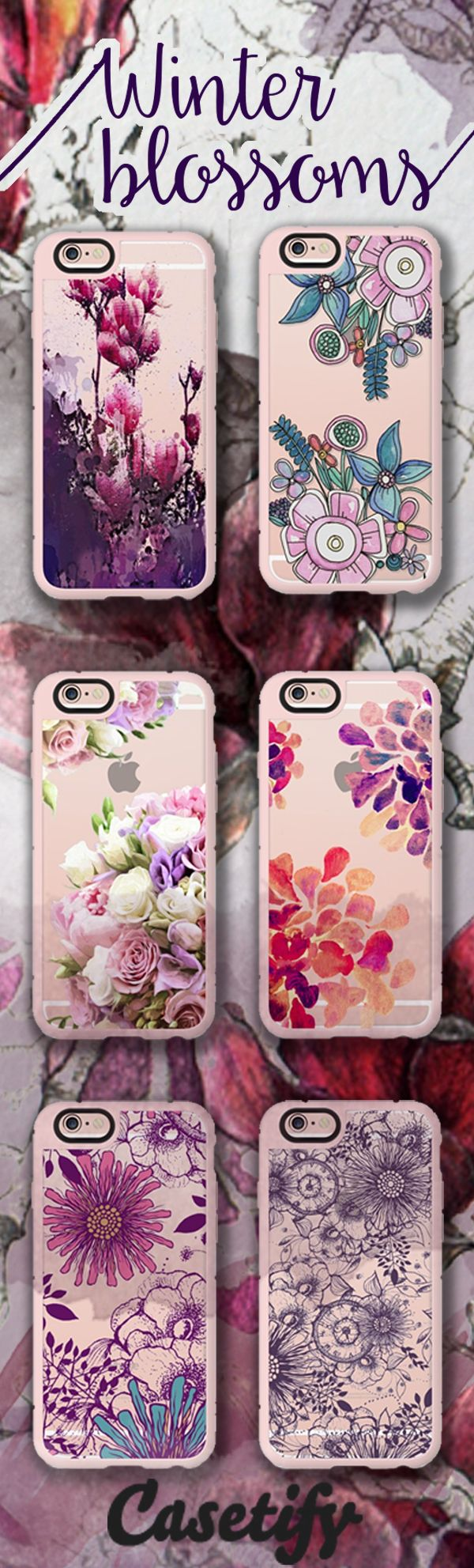 Winter in Full Bloom. Shop these New Standard cases for your iPhone 6S here - http://www.casetify.com/artworks/jJQlUwM5OJ
