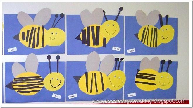 bijen knippen en plakken