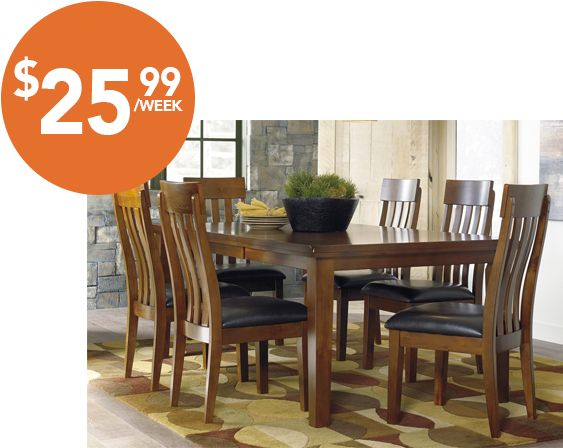 Majik Rent to Own Ashley Ralene 7 Piece Dining Set Id D594. 1000  images about Dining on Pinterest
