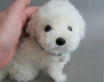 Leben Größe Nadel gefilzt Hund Hund, Malteser, Bichon Frisé Maltipoo Shorkie, Filz Tier, benutzerdefinierte Hund Portrait Memorial, Pet Verlust Geschenk