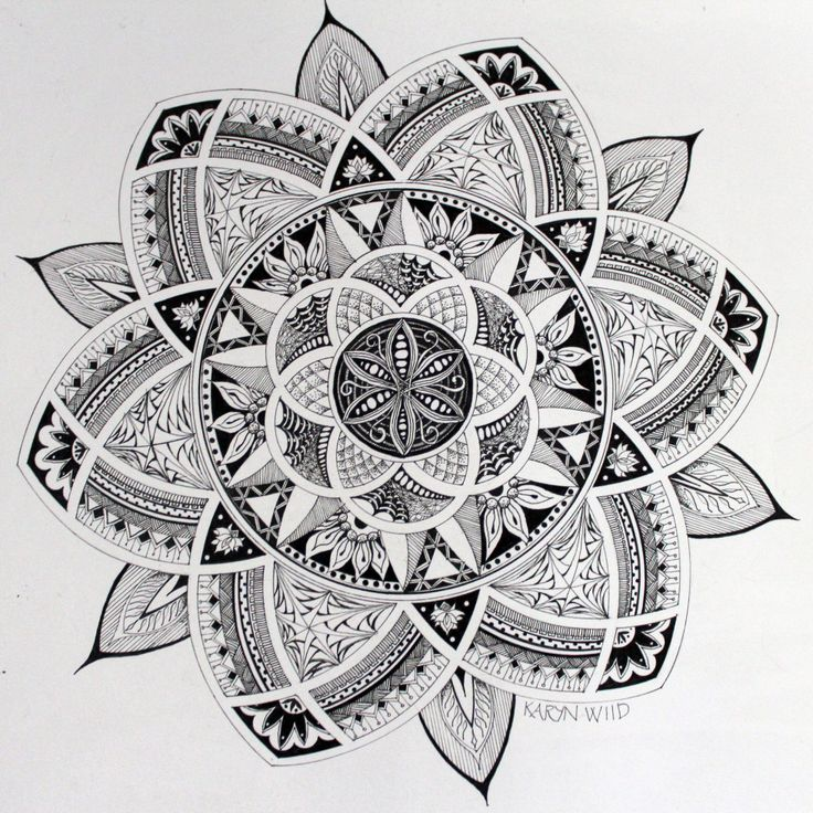 final zentangle mandala