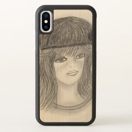 #Flipped Hair Flapper iPhone X Case - #deco #gifts