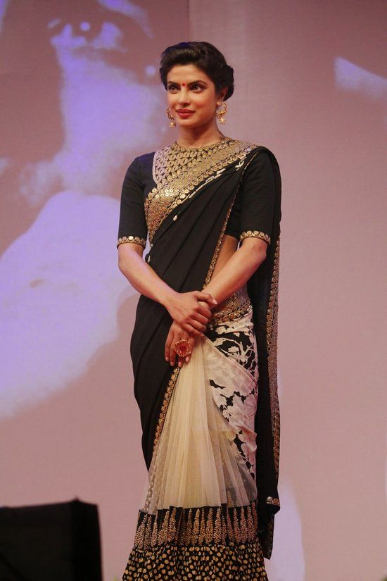 Priyanka in Sabyasachi designer saree bollywood saree