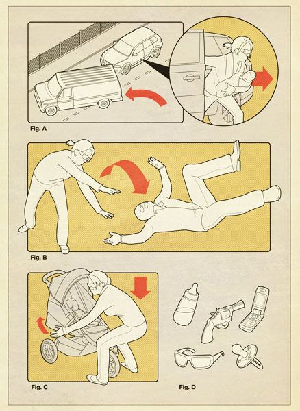 #tobatron instructional graphics instruction user manual retro illustration airplane safety card parody www.tobatron.com