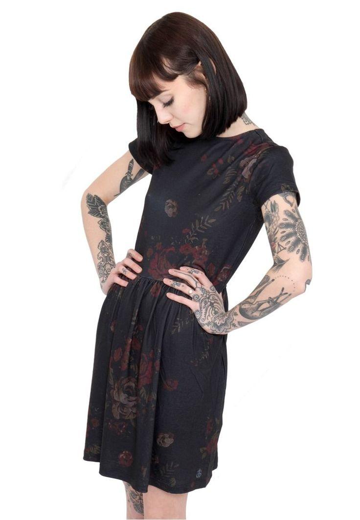 Drop Dead Bloom Dress 14 uk lazy floral oaf print saints dollskill new with tags | eBay