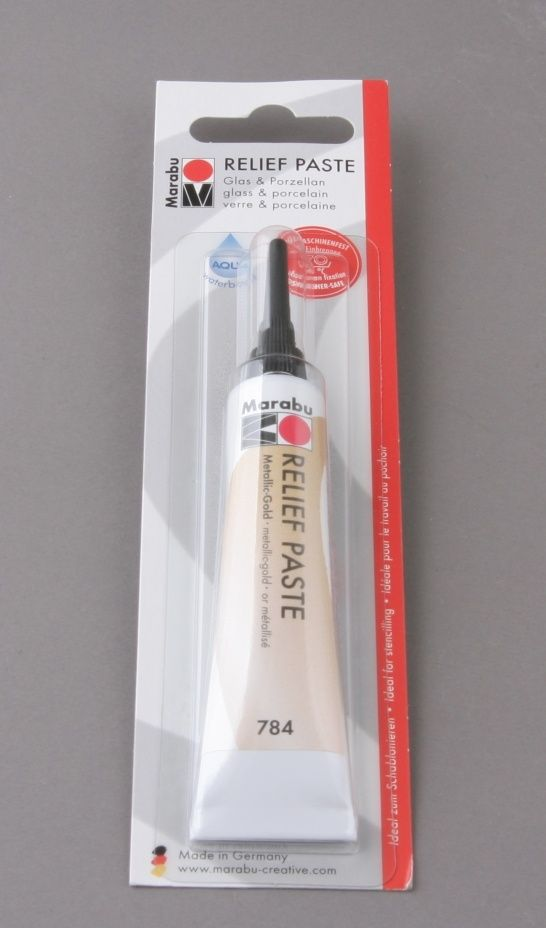 Farba konturowa do szkła i porcelany Marabu 20 ml - ZŁOTA :: ArtEquipment - Internetowy sklep dla plastyków