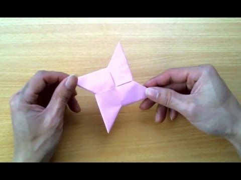 how to make a paper throwing star youtube
