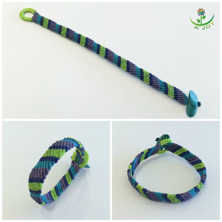 Friendship Bracelet FB00010 (Strings : 8, Colours : 4, Rows : 8)