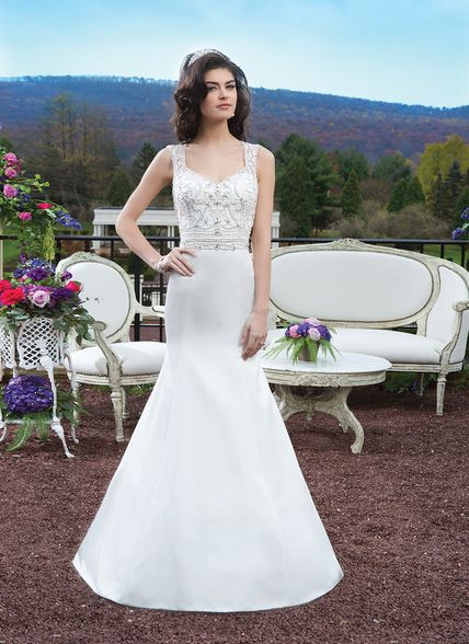 Sincerity Bridal by Justin Alexander Bridal Dress 3805 Ivory Size 10 on Sale
