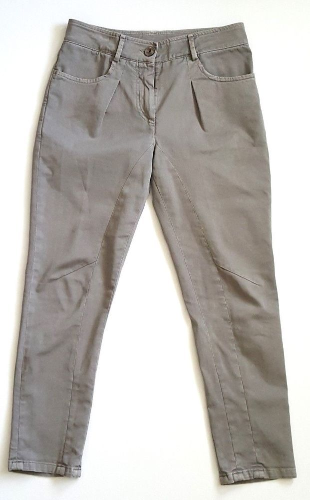 bc2c6445770 Brunello cucinelli womens jeans pants cotton blend pleated front gray size  4  BrunelloCucinelli  CasualPants  Everyday