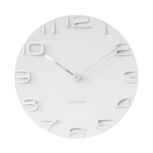 Karlsson On The Edge Wall Clock - White (42cm) | Koop.co.nz