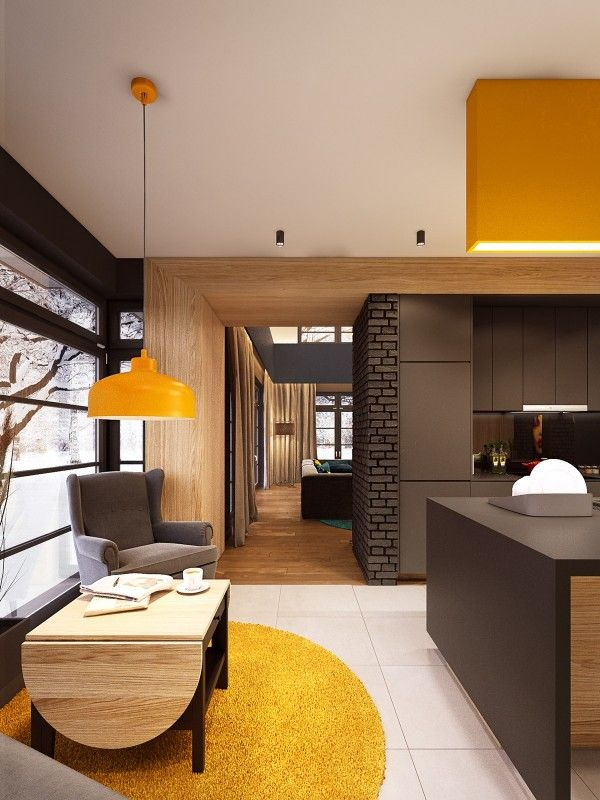 Home Designing — (via A Seductive Home with Lush Colors and Double...
