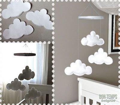 DIY cloud mobile.