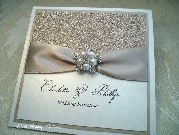 Luxury Champagne Glitter Wedding par QuillsWeddingFavours sur Etsy