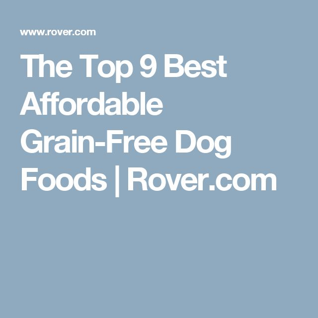 The Top 9 Best Affordable Grain-Free Dog Foods | Rover.com