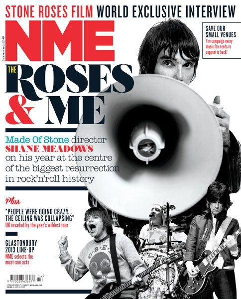 NME Magazine cover, The Stone Roses, April 6th 2013