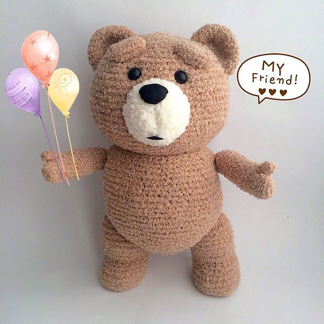 Ravelry: Ted bear pattern by Mariya Kozlova