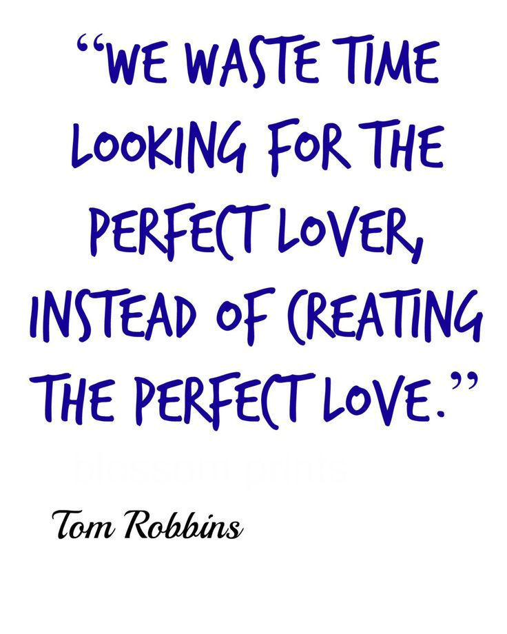 Perfect love Quotes from Tom Robbins by Blossomsvintageprint on Etsy
