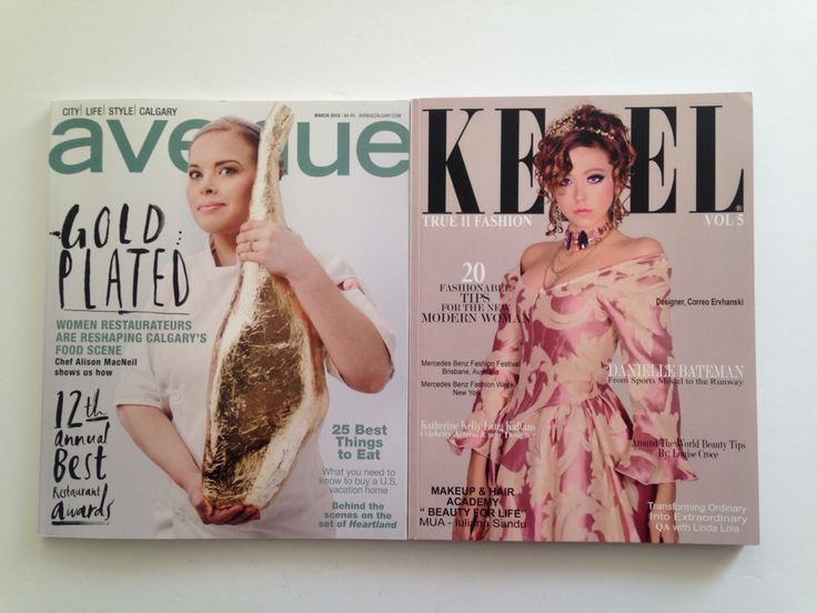 Avenue: Cover Hair and Makeup Keel Magazine: Written Article on pgs 122-123