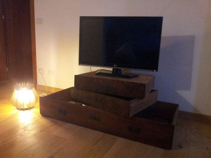 Old Drawers reuse - tv stand
