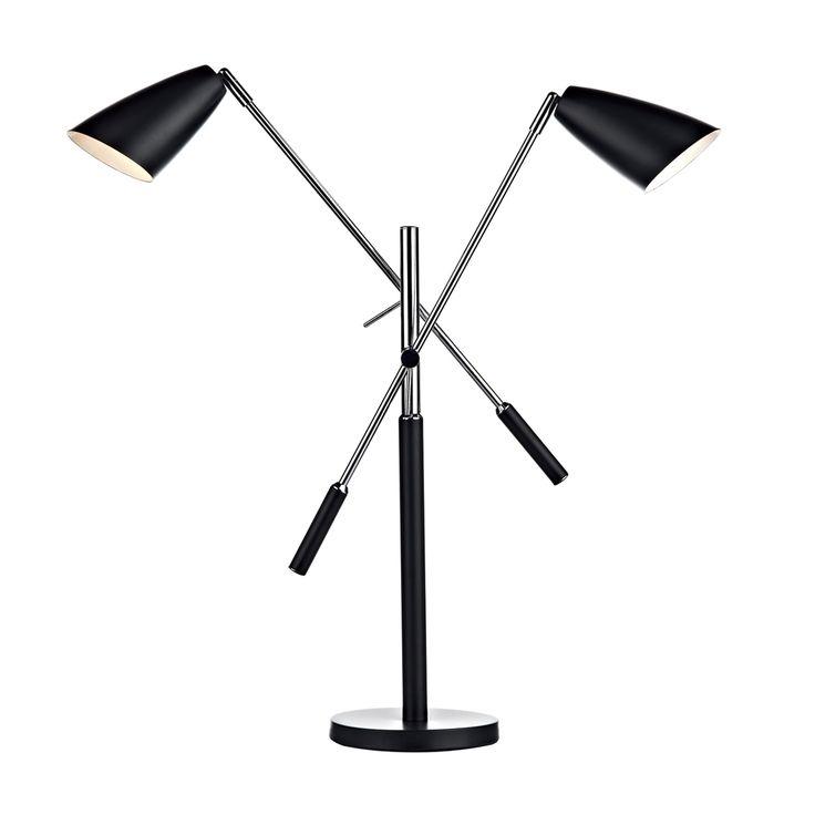 31 best black lighting images on pinterest ceiling lamps giorgio 2 light black table lamp aloadofball Images