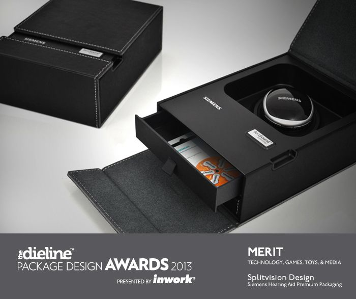 The Dieline Package Design Awards 2013: Technology, Games, Toys, & Media, Merit - Siemens Hearing Aid Premium Packaging - The Dieline -