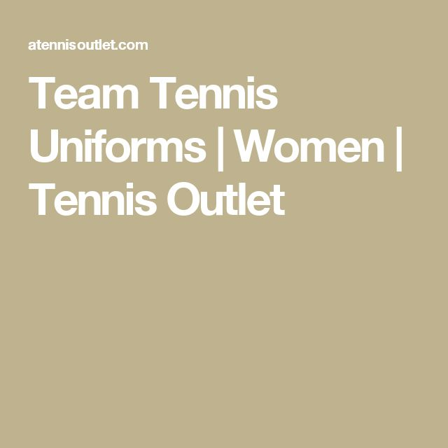 Team Tennis Uniforms | Women | Tennis Outlet