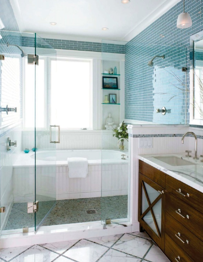 wet room tub inside shower for master bathroom