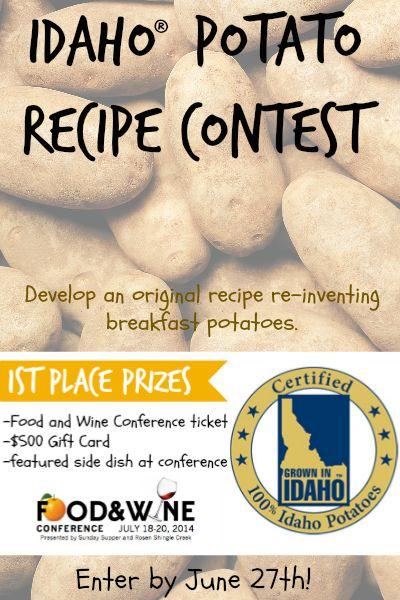 11 best idaho potato contests images on pinterest idaho idaho potato recipe contest food and wine conference forumfinder Gallery