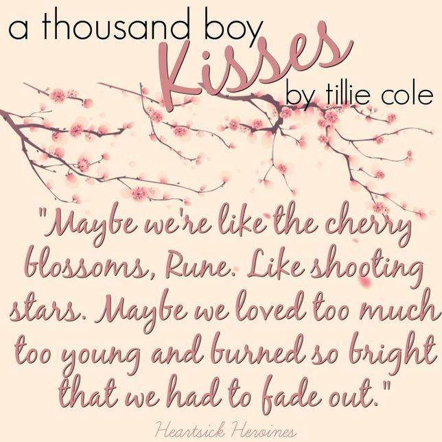 A Thousand Boy Kisses by Tillie Cole HeartsickHeroines