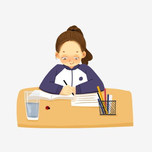 Students Who Are Learning To Write Homework Writing Clipart Learning Writing Homework Png Transparent Clipart Image And Psd File For Free Download Student Cartoon Student Clipart Writing Homework