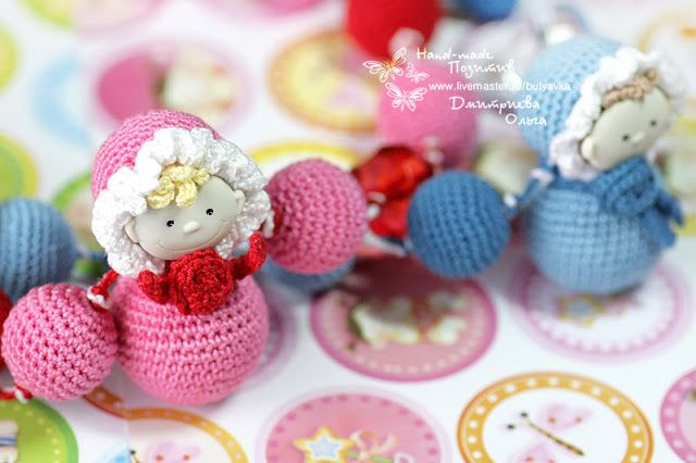"Hand Made Позитив: ""Малыш"" - СлингоБусы #crochet #amigurumi #bijou #jewelry #for_children #bead  #handmade"