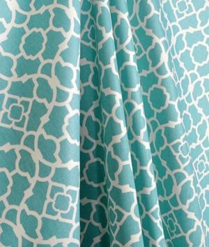 Waverly Lovely Lattice Aqua Fabric.
