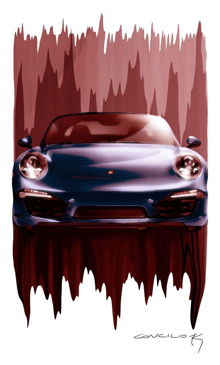 STORMWHEELS: PORSCHE 911 - Illustrazione di Giancarlo Concilio