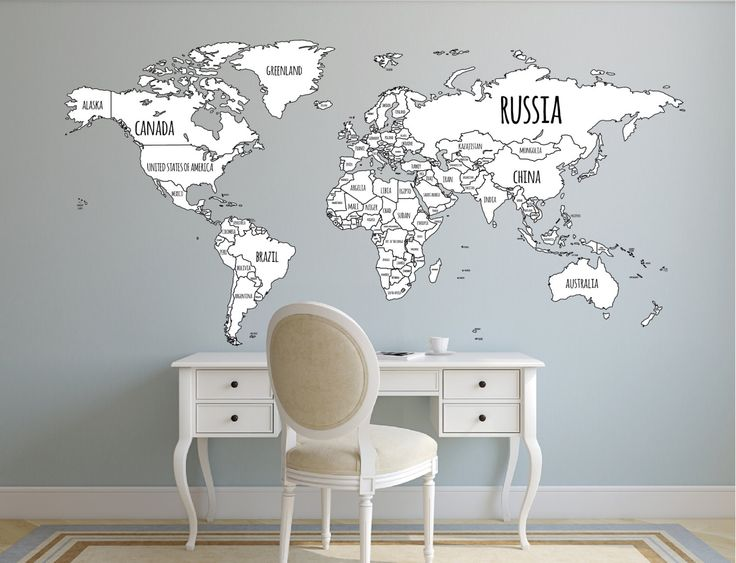 12 best wanderlust travel images on pinterest destinations world map decal political world map wall decal country names map wall sticker gumiabroncs Images