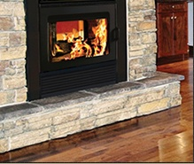 Fireplace with built in BBQ!! Supreme Foyers Suprême - Zero Clearance Fireplaces
