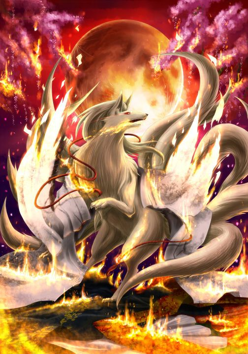 0_0 Ninetales is so cute and epic at the same time.