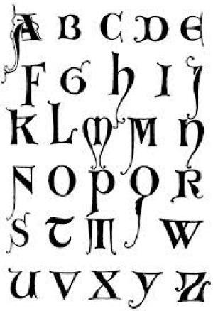 Cómo hacer letras góticas - Dibujos y ejemplos