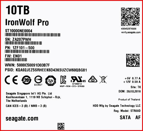 Seagate ST10000NE0004 02 NAS HDD Seagate IronWolf Pro 10TB