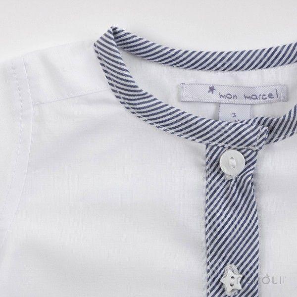 Camisa con tapeta y cuello mao de Mon Marcel. #baby #fashion #NeroliByNagore #SS14 #MonMarcel