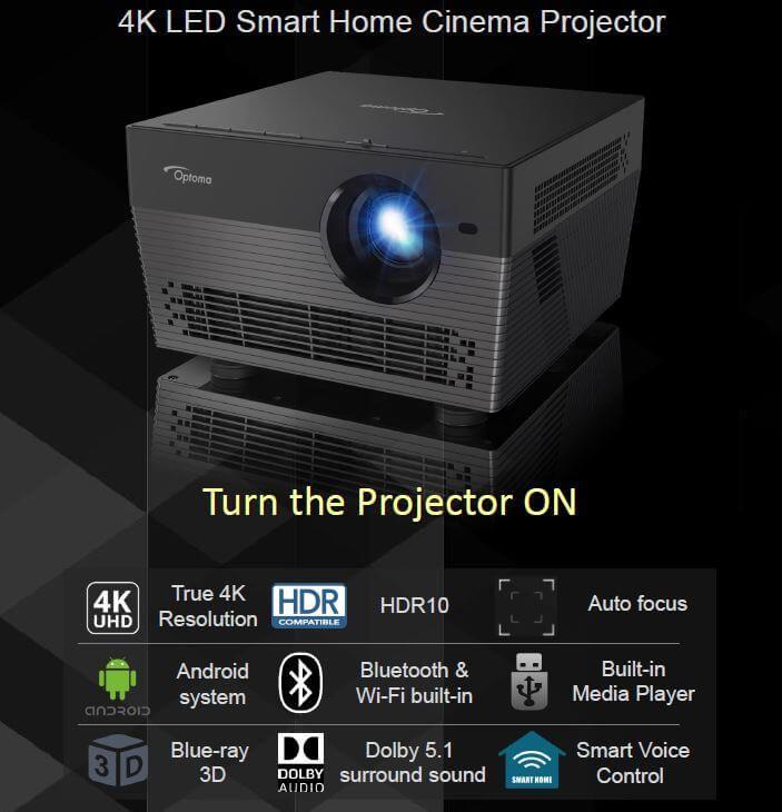 Optoma Uhl55 4k Uhd Led Smart Home Cinema Projector Optoma Uhl55