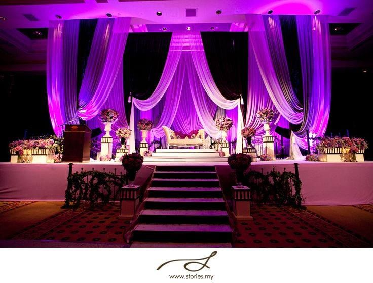 White With Purple Lighting Wedding Back Drops Pinterest Purple Wedding Event Design And