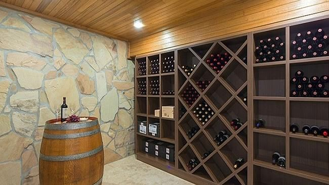 The basement has eight car spaces and a wine cellar at 15-17 Kelty Tce, Bundoora.