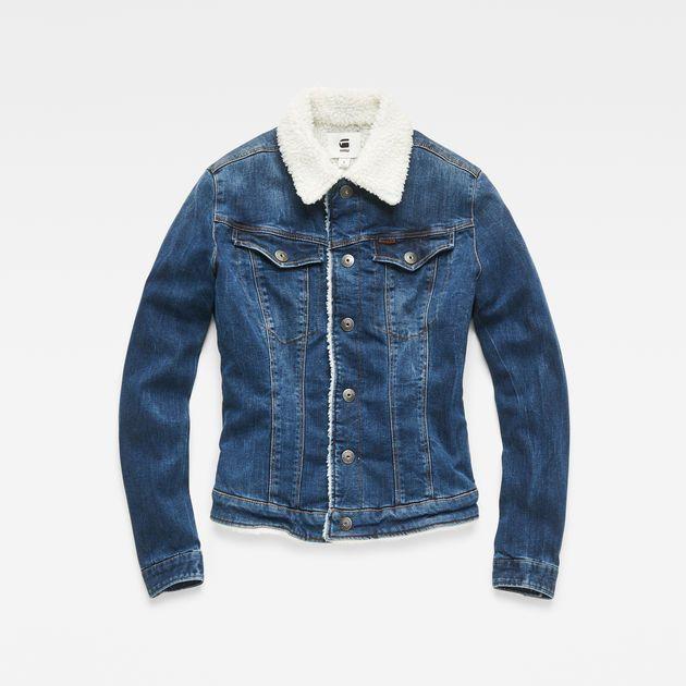 3301 Slim Sherpa Jacket Medium Aged G Star Raw In 2021 Jackets Denim Fashion Menswear