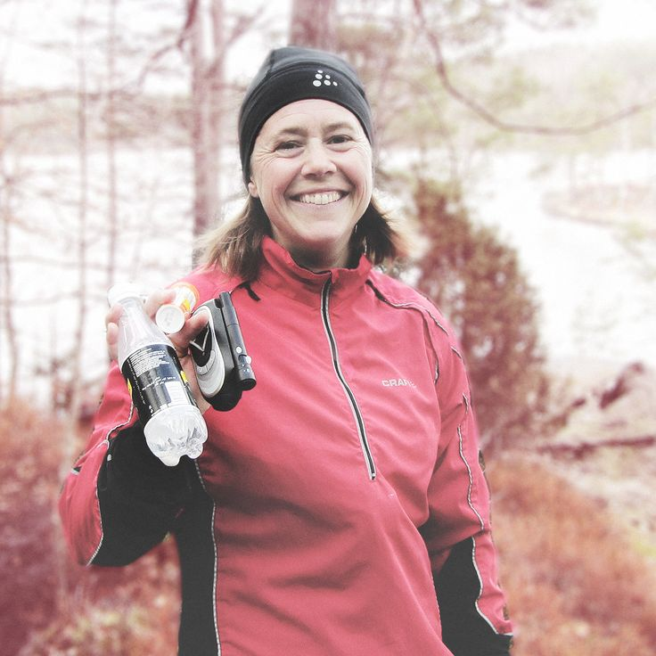 AnnaPS Ambassadeur, sportswoman and diabetic spokesperson Josefin Palmen works out in the woods