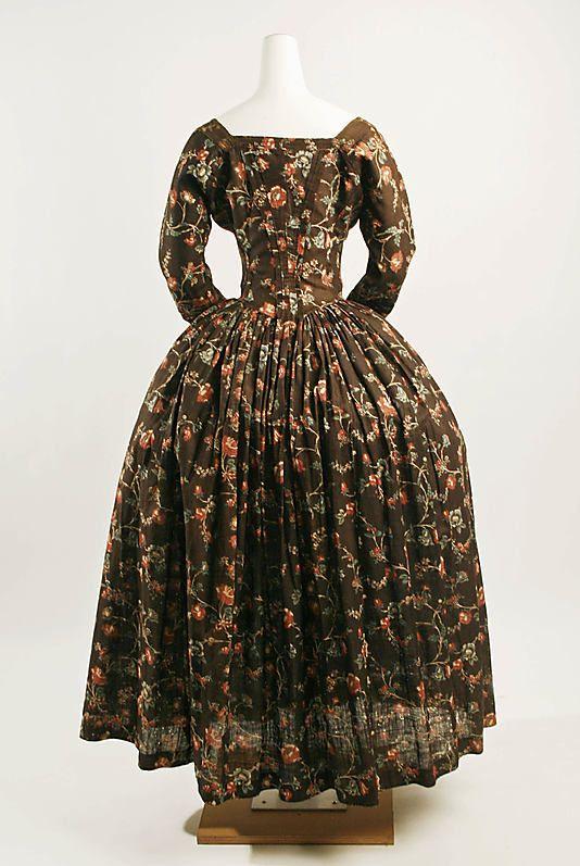 Dress  Date: ca. 1774 Culture: American Medium: cotton, linen