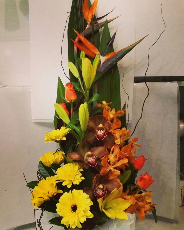Front facing flower arrangement  www.thepaperroseflorist.com.au