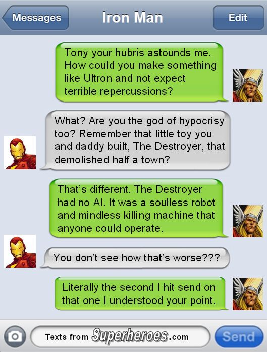 Superhero Texting [Images]