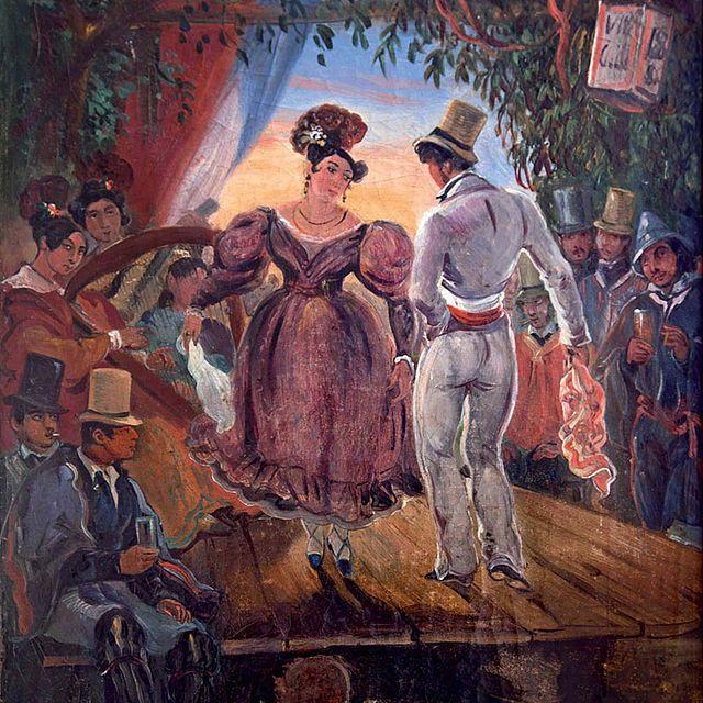 """La Cueca"". (by Johann Moritz Rugendas (1802-1858)"
