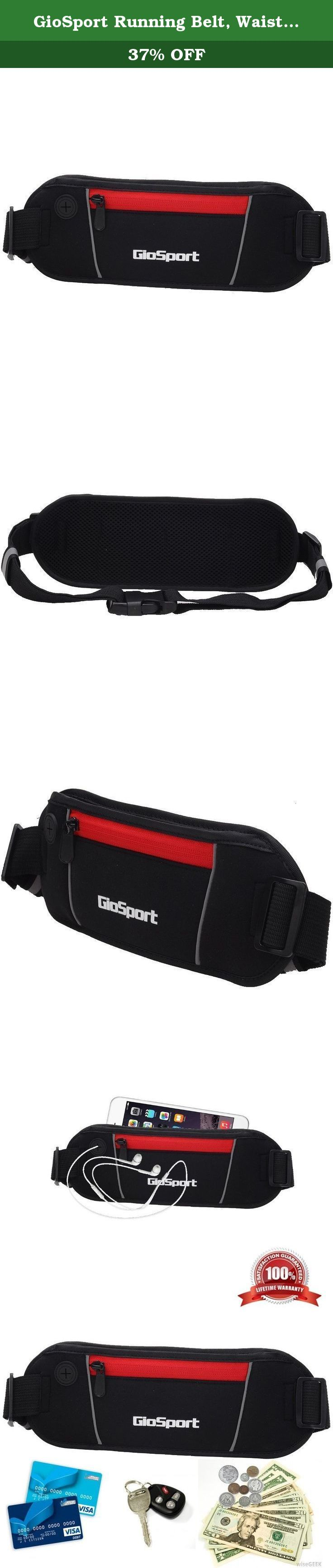 GioSport Running Belt, Waist Pack, Best Sports Belt/Pouch for Runners, Running Bag, Fanny Pack, Travel Money Belt, Compact for Carrying All Your Necessities, Lifetime Guarantee. The GioSport Running Belt is one of those cool, slim, flat fanny packs that you can use as a running buddy, runners belt, waist bag for women and men and also as a bike fanny pack or walking pouch. Manufactured with high quality neoprene material in front and breathable mesh material on the back side with…